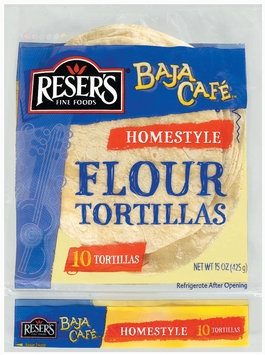 Baja Cafe Homestyle 10 Ct Flour Tortillas 15 Oz Bag