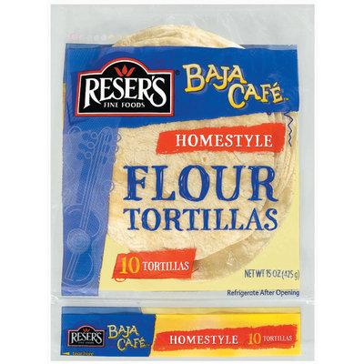Baja Cafe Homestyle 10 Ct Flour Tortillas 15 Oz Bag