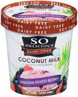 So Delicious® Coconut Milk Oregon Mixed Berry Non-Dairy Frozen Dessert 1 pt. Tub