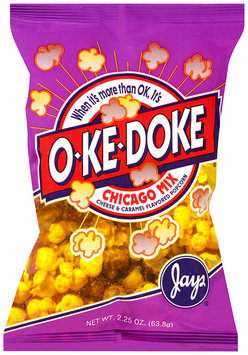 jay's® o-ke-doke® chicago mix cheese & caramel flavored popcorn