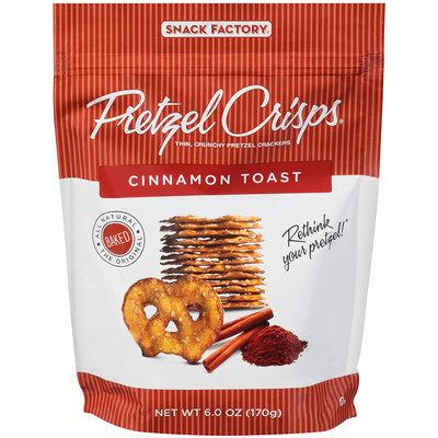 Pretzel Crisps® Cinnamon Toast Pretzel Crackers 6.0 oz. Bag