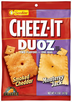 Cheez-It® Duoz® Smoked Cheddar & Monterey Jack Baked Snack Crackers 4.3 oz. Bag