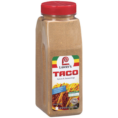 Lawry's W/Natural Spices Taco Spices & Seasonings 25 Oz Shaker