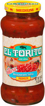 El Torito® The Original Restaurant Salsa Medium 16 oz. Jar