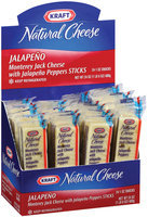 Kraft Natural Cheese Snacks Monterey Jack W/Jalapeno Peppers Cheese Stick