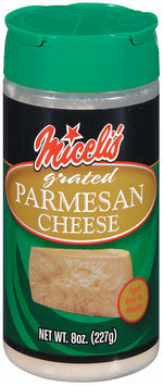 Miceli's Parmesan Grated Cheese 8 Oz Shaker