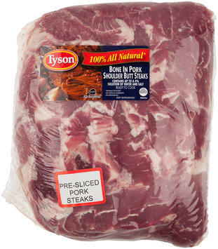 Tyson® Bone in Pork Shoulder Butt Steaks