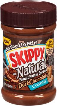 Skippy® Natural Creamy Peanut Butter Spread with Dark Chocolate 15 oz. Plastic Jar