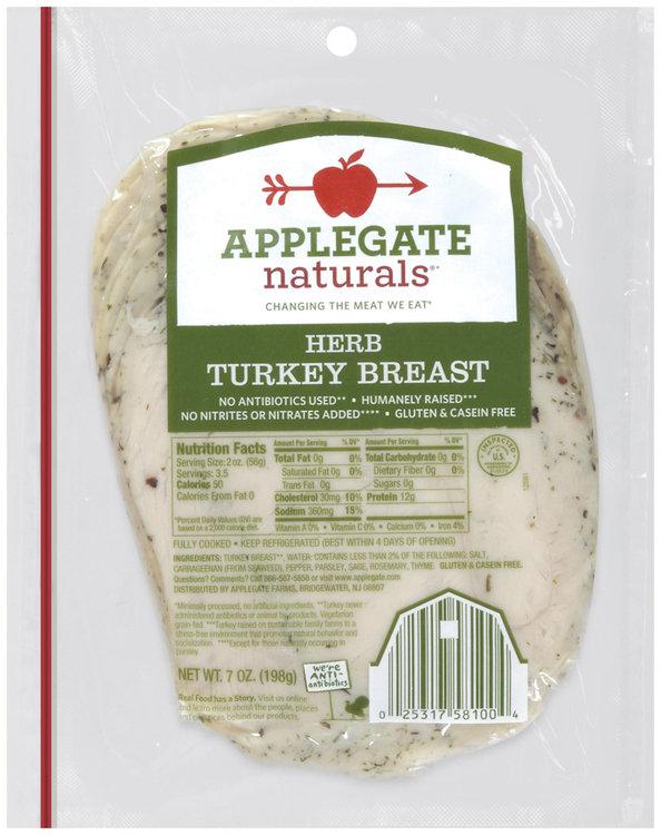applegate farms® naturals® herb turkey breast
