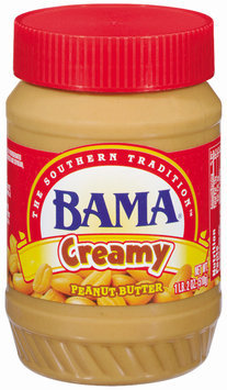 Bama Spreads Creamy, Modified 6/2/07 Peanut Butter 18 Oz Plastic Jar