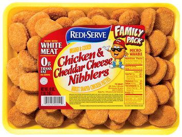 Redi-Serve Chicken & Cheddar Cheese Nibblers 18 oz. Tray