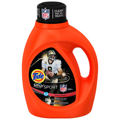 Tide Plus Febreze Freshness™ Sport Victory Fresh Scent High Efficiency Liquid Laundry Detergent 75 fl. oz. Bottle
