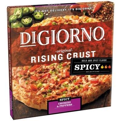 DIGIORNO Rising Crust Spicy Chorizo & Peppers Pizza Box