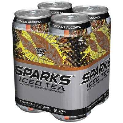 Sparks Iced Tea 8% Alcohol By Volume 4 Pk Premium Malt Beverage 16 Oz Cans
