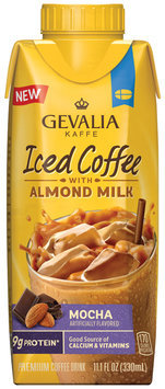 Gevalia Mocha Iced Coffee with Almond Milk 11.1 fl. oz. Aseptic Pack
