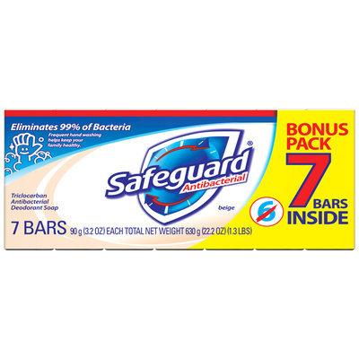 Safeguard Antibacterial Beige Deodorant Bar Soap 7 ct