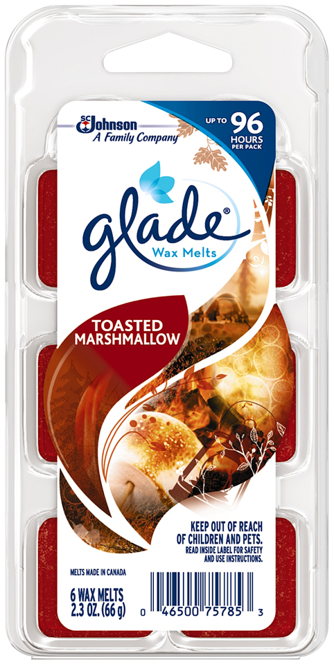 Glade® Toasted Marshmallow Wax Melts Refill 6 ct Clamshell