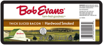 Bob Evans® Thick Sliced Hardwood Smoked Bacon 24 oz. Pack