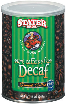 Stater Bros. Decaf Ground Coffee 13 Oz Canister