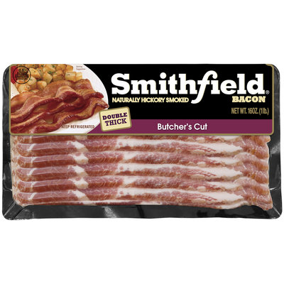 Smithfield® Naturally Hickory Smoked Butcher's Cut Bacon 16 oz. Pack
