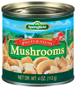 Springfield Pieces & Stems Mushrooms 4 Oz Can