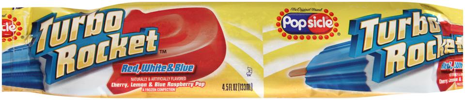 Popsicle® Turbo Rocket™ Red White & Blue Pop 4.5 fl. oz. Wrapper
