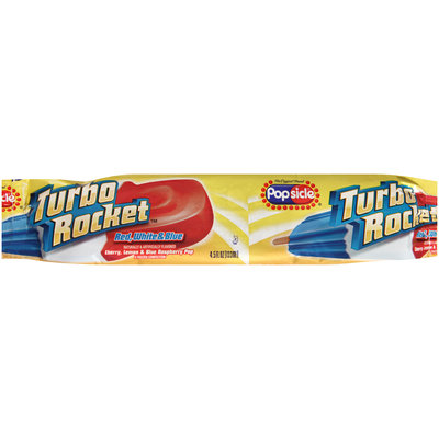 Popsicle® Turbo Rocket™ Red White & Blue Pop 4.5 fl. oz. Wrapper