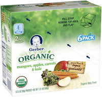 Gerber® Organic 2nd Foods® Mangoes, Apples, Carrots & Kale Baby Food 6-3.5 oz. Pouches