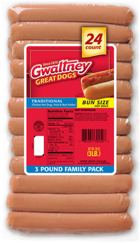 Gwaltney® Traditional Bun Size Hot Dogs 48 oz. Pack