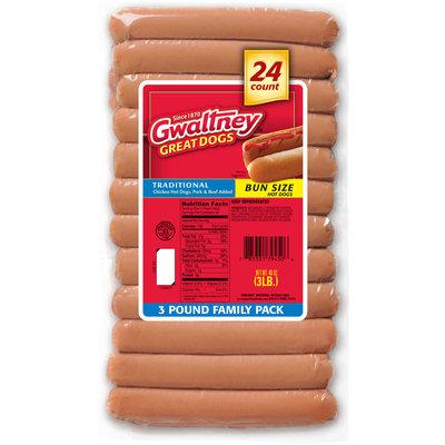 Gwaltney® Traditional Bun Size Hot Dogs 48 oz. Pack