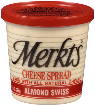 Merkts® Almond Swiss Cheese Spread 8 oz. Tub
