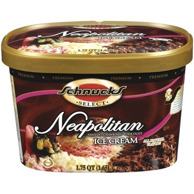 Schnucks Neapolitan Ice Cream 1.75 Qt Tub