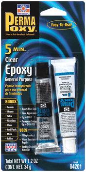 Permatex® PermaPoxy™ 84201 5 Minute Carded General Purpose Clear Epoxy 2 ct