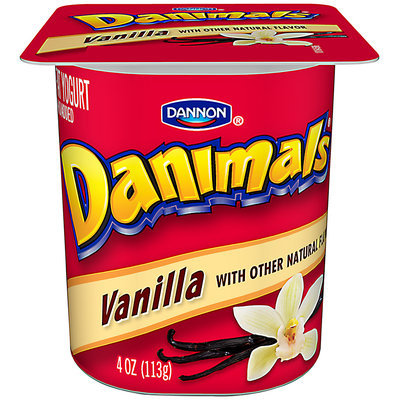Danimals Crush Cups Cherry 4 Oz Lowfat Yogurt 48 Ct Cups