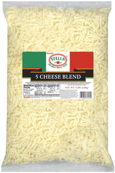 Stella® 5 Cheese Blend Shredded Cheese 5 Lb Bag