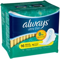 Ultra Always Ultra pads Regular w/Flexi-Wings 16 count