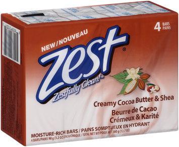 Zest® Creamy Cocoa Butter & Shea Moisture-Rich Bars 4-3.2 oz. Bars