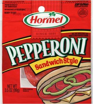 Hormel™ Sandwich Style Pepperoni 3.5 oz. ZIP-PAK®