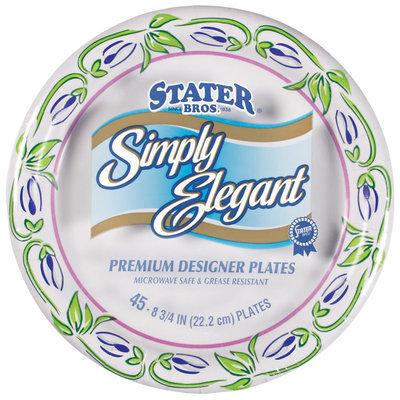 Stater Bros. Simply Elegant Premium Designer 8 3/4 In Ea Paper Plates 45 Ct Package