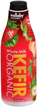 Wallaby® Organic Whole Milk Strawberry Kefir 32 fl. oz. Bottle