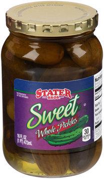 Stater Bros.® Sweet Whole Pickles 16 fl. oz. Jar