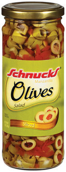 Schnucks Manzanilla Sliced Salad Olives 10 Oz Jar