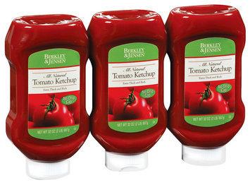 Berkley & Jensen Tomato All Natural 32 Oz Ketchup 3 Ct Squeeze Bottle