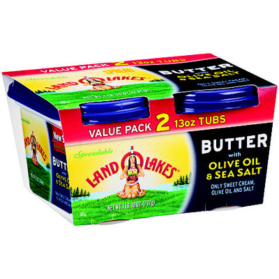 Land O'Lakes® Butter with Olive Oil & Sea Salt 2-13 oz. Pack