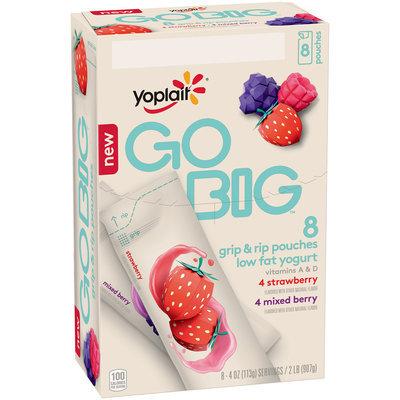 Yoplait® Go Big™ Strawberry/Mixed Berry Low Fat Yogurt Variety Pack 8-4 oz. Tubes