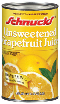 Schnucks Unsweetened from Concentrate Grapefruit Juice 46 Fl Oz Can