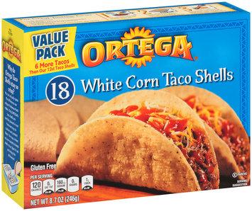 Ortega® White Corn Taco Shells 8.7 oz.-18 ct. Box