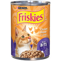 Purina Friskies Meaty Bits Chicken Dinner in Gravy Cat Food 13 oz. Can
