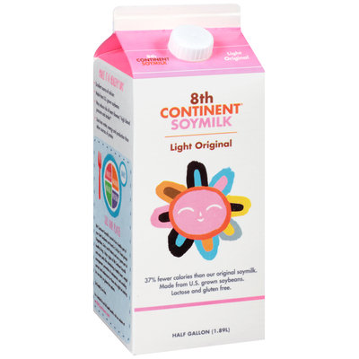 8th Continent® Light Original Soymilk 0.5 gal. Carton