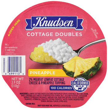 Knudsen Cottage Doubles Cottage Cheese & Pineapple Topping 3.9 oz. Tray